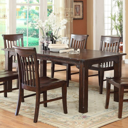 E.C.I. Furniture Gettysburg Dining Table with an 18