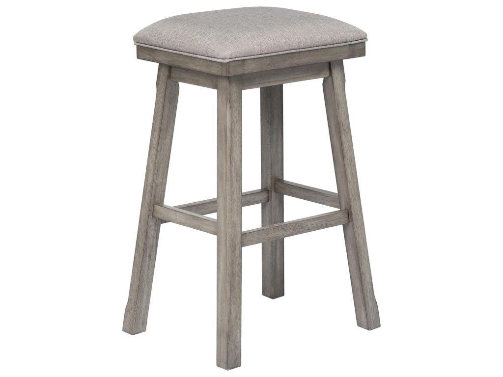 E.C.I. Furniture GraystoneBar Height Backless Stool