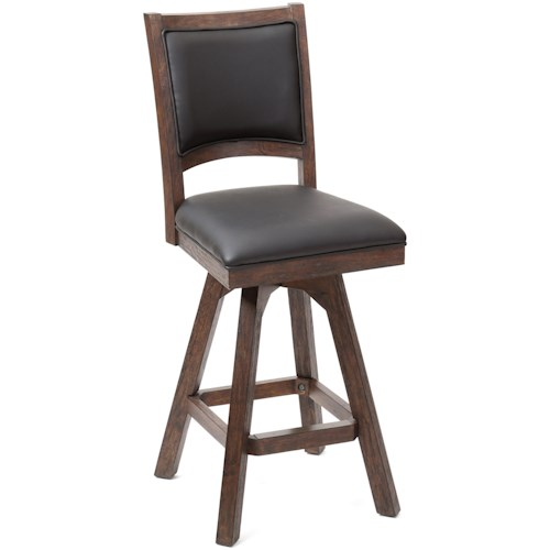 E.C.I. Furniture Guinness Bar Leather Armless Swivel Barstool