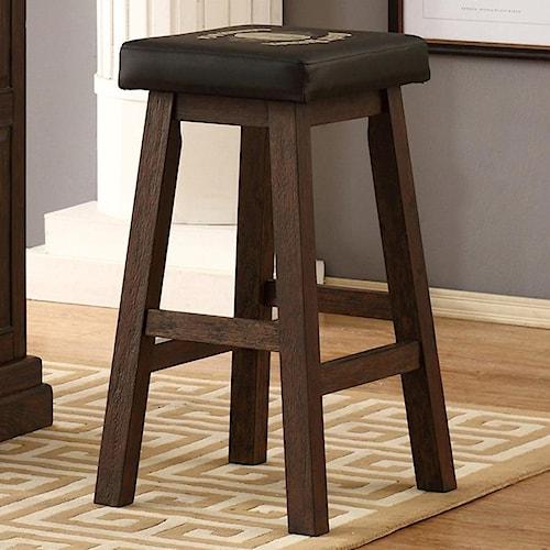 E C I Furniture Guinness Bar Leather Saddle Stool