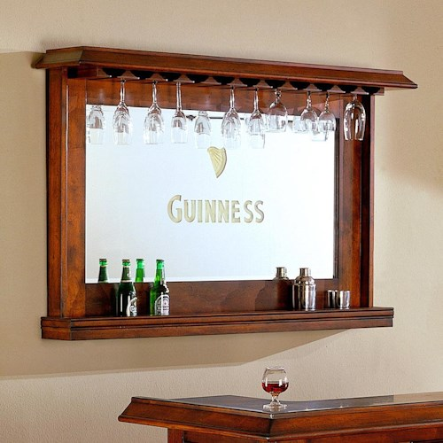 E C I Furniture Guinness Bar Back With Mirror