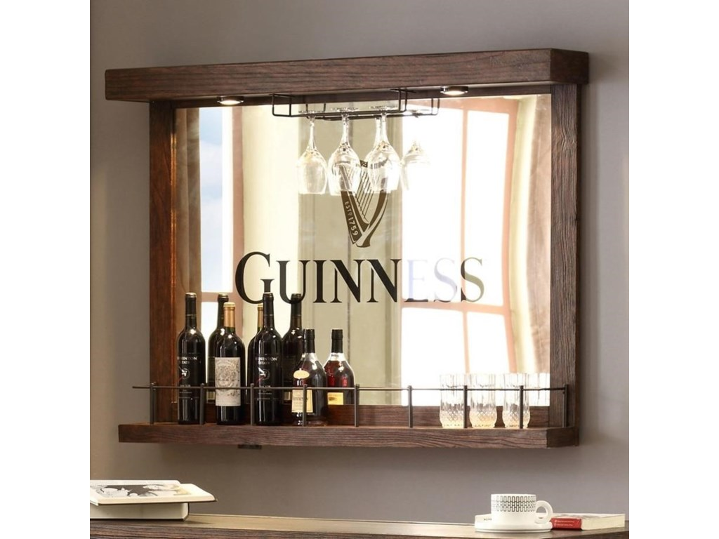 E.C.I. Furniture Guinness BarBack Bar Mirror