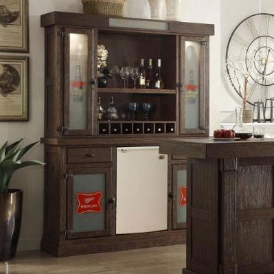 Picture of: E C I Furniture Miller High Life Miller High Life Back Bar With Hutch Wayside Furniture Bars