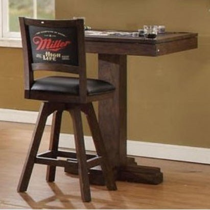 Superbe E.C.I. Furniture Miller High Life Miller High Life Square Pub Game Table  With Reversible Top