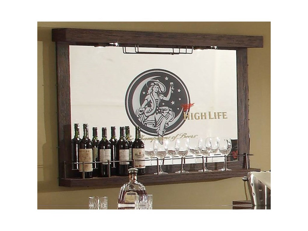 Miller High Life Mirror Wall Bar By E C I Furniture