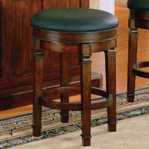 E.C.I. Furniture Nova Bar Stool with Leather Seat