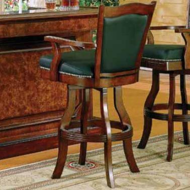 E c i furniture rockford distressed walnut leather bar stool