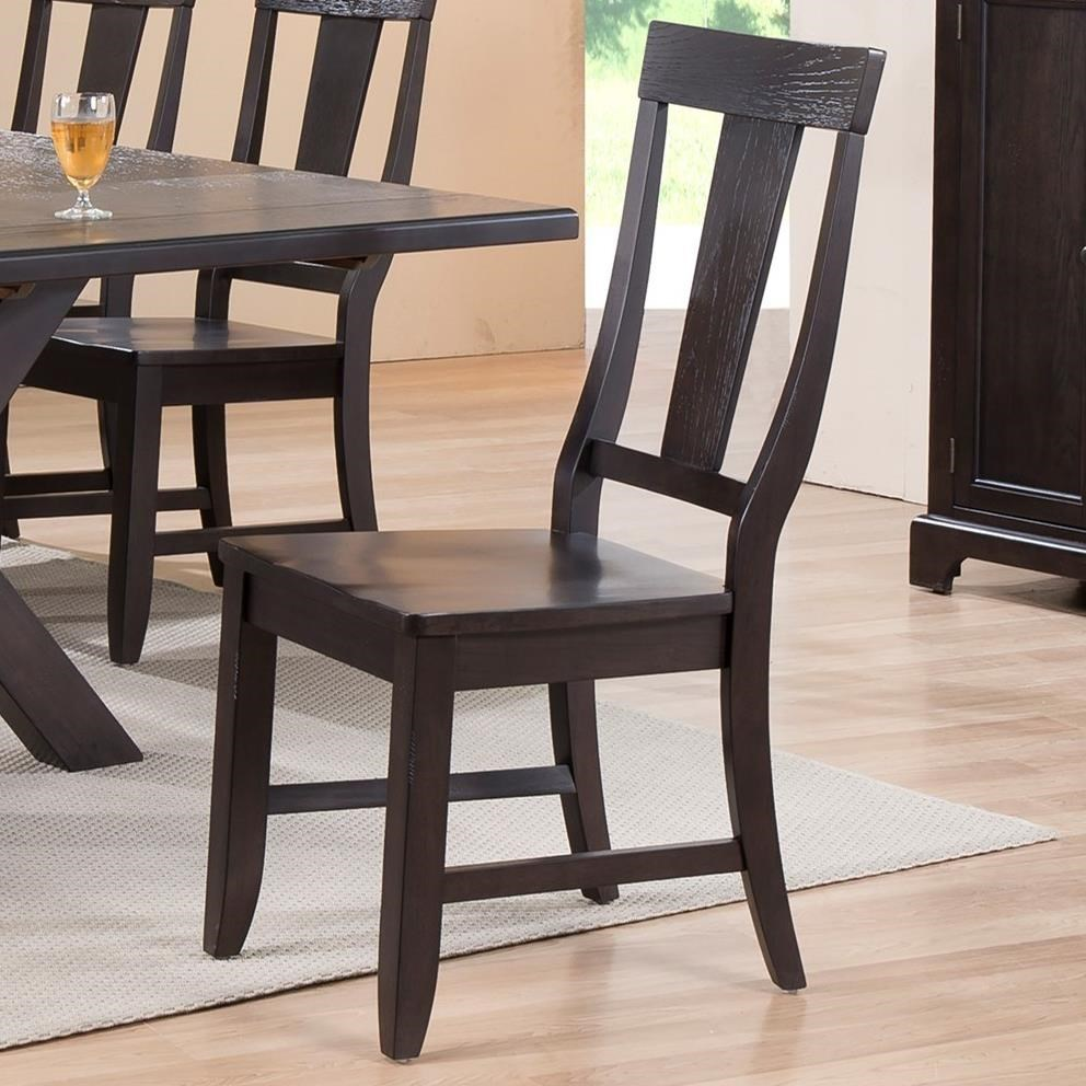 Ordinaire E.C.I. Furniture Rum Pointe Side Chair With Splat Back