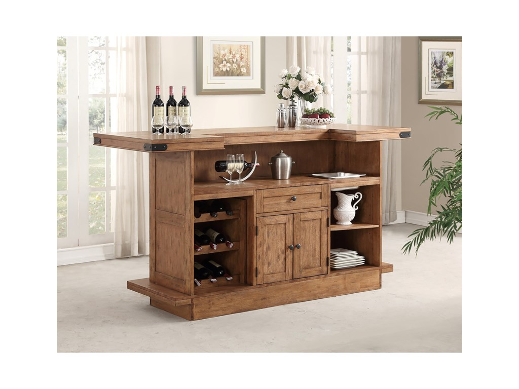 E c i furniture shenandoah 0515bar set with stools