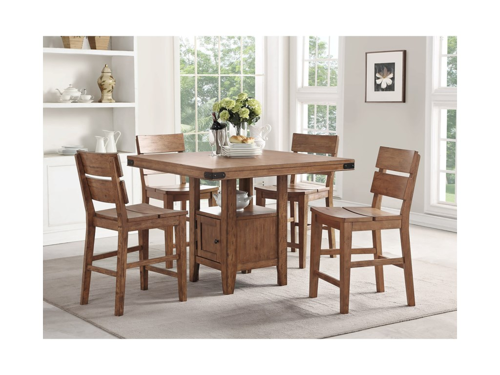 E c i furniture shenandoah 5 pc pub table set