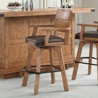 E c i furniture shenandoah upholstered swivel barstool