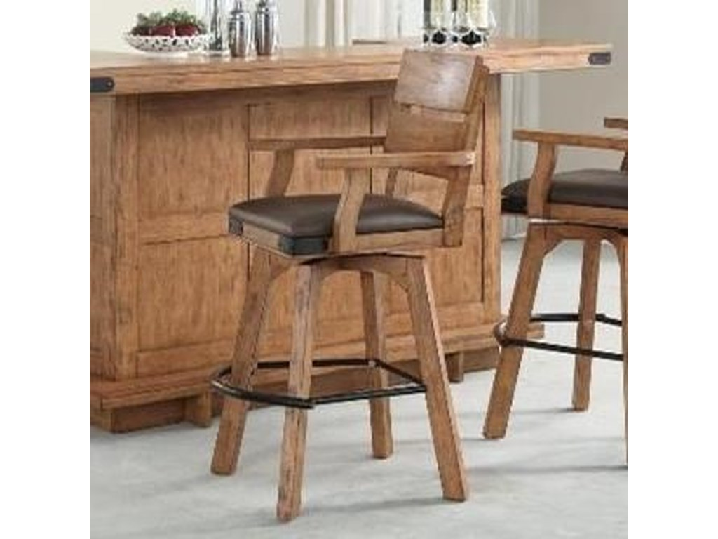 E c i furniture shenandoah upholstered swivel barstool