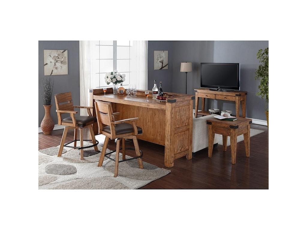 E.C.I. Furniture Shenandoah - 0515Theater Bar + Stools