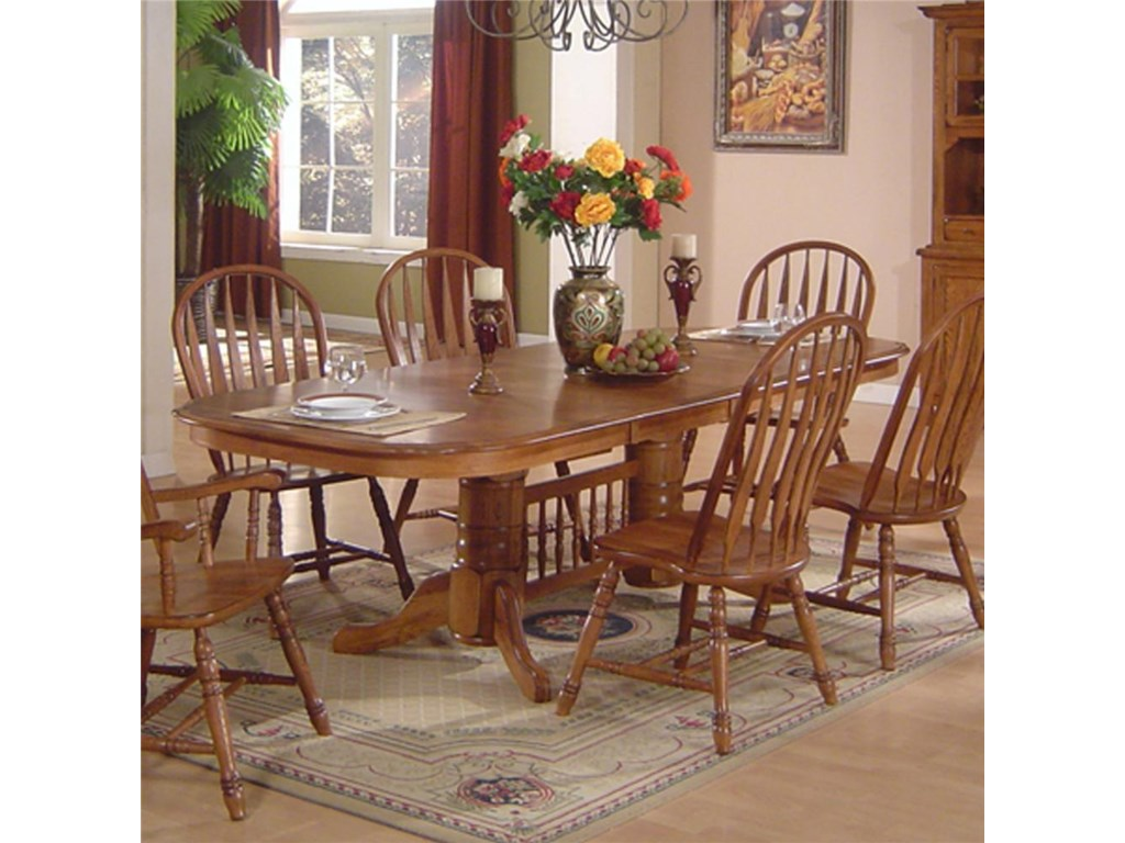 E.C.I. Furniture Solid Oak Dining Solid Oak Dining Table ...