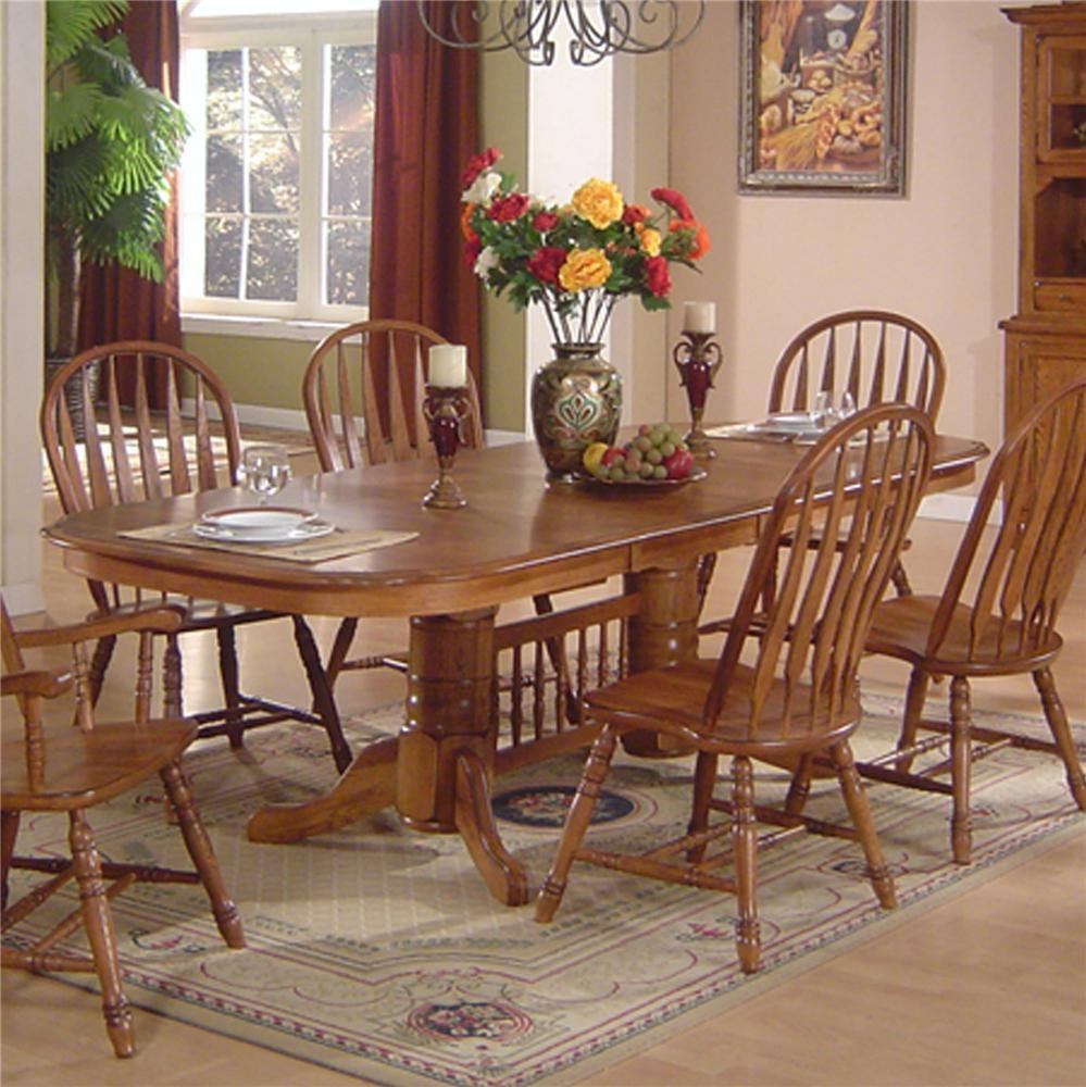 E.C.I. Furniture Solid Oak Dining Solid Oak Dining Table   Dunk U0026 Bright  Furniture   Dining Room Table