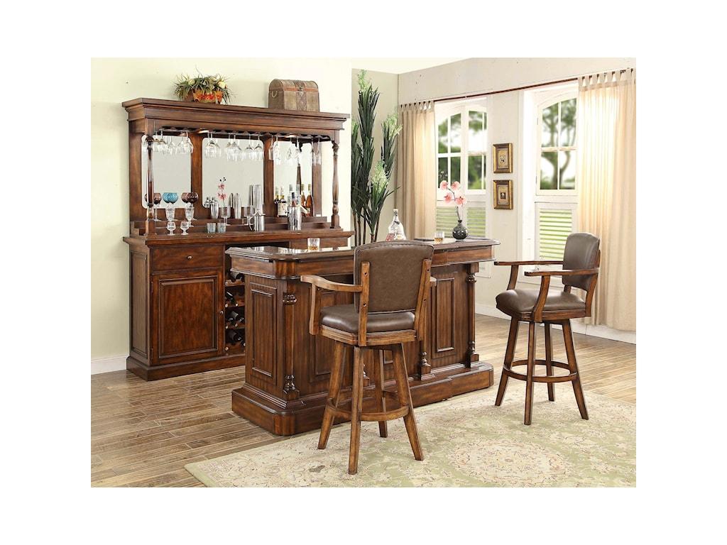 E.C.I. Furniture Trafalgar - 0403 Traditional Bar Unit With Hutch ...