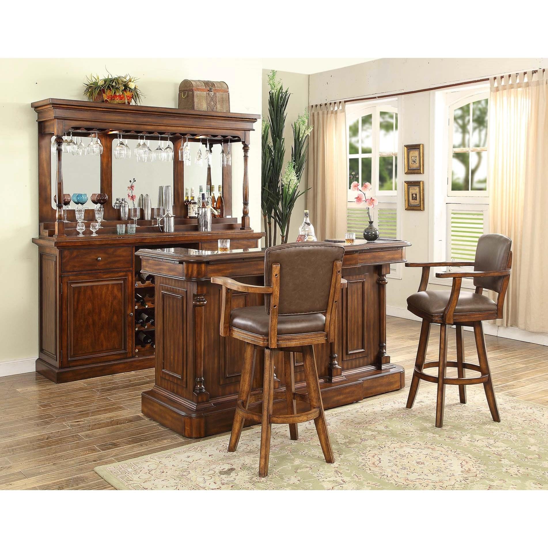 Attrayant Trafalgar   0403 Traditional Bar Unit With Hutch By E.C.I. Furniture