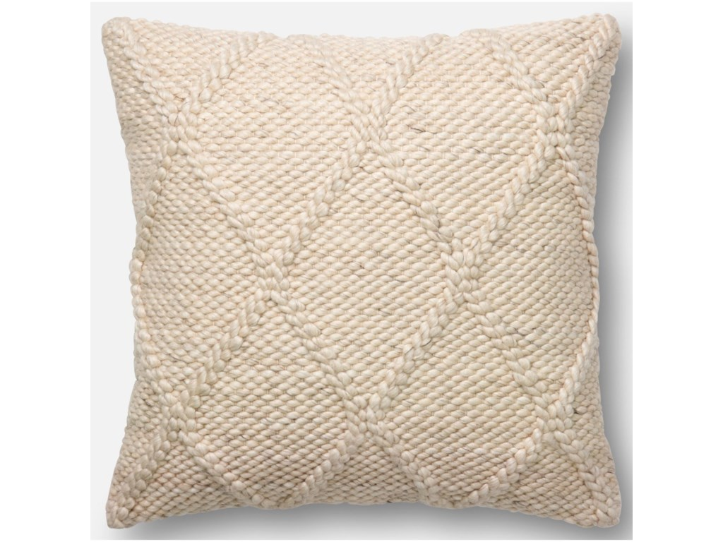 puffs throw in puff hand boucle wool pillow with delicate cream pillows grey woven