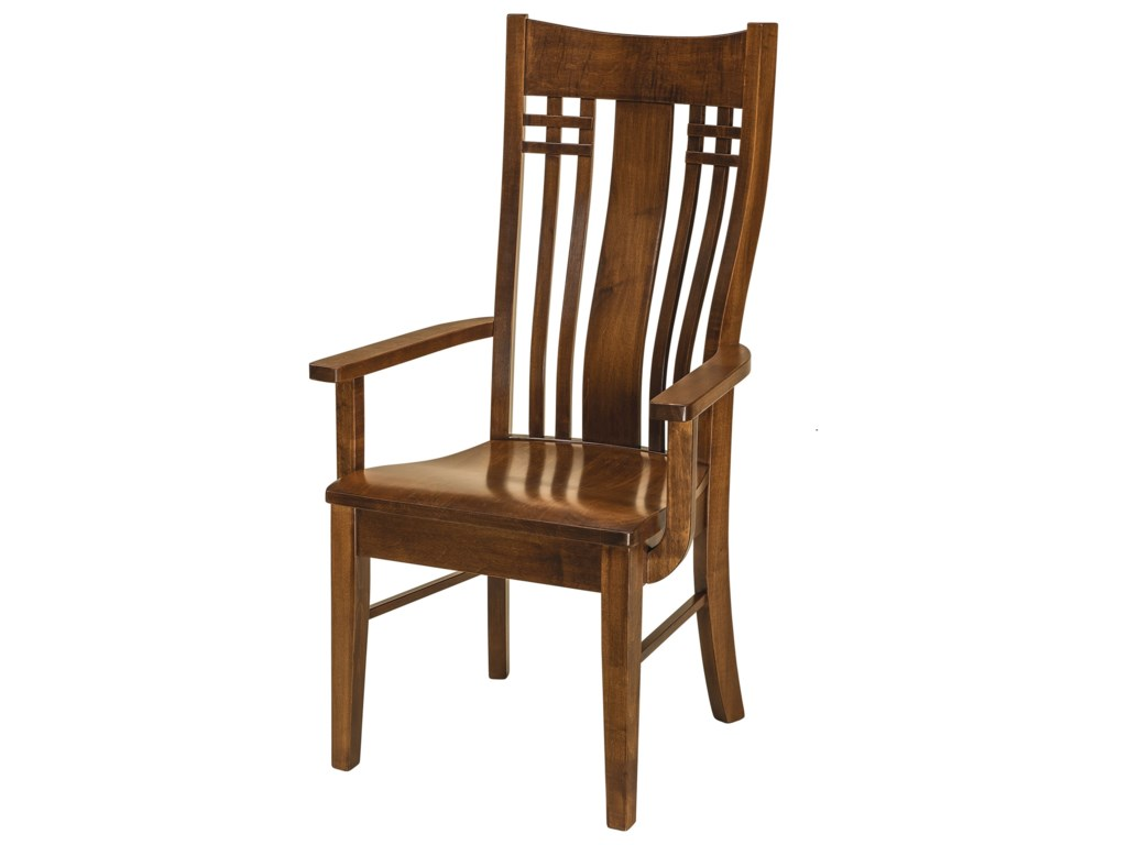F&N Woodworking BennetArm Chair - Wood Seat