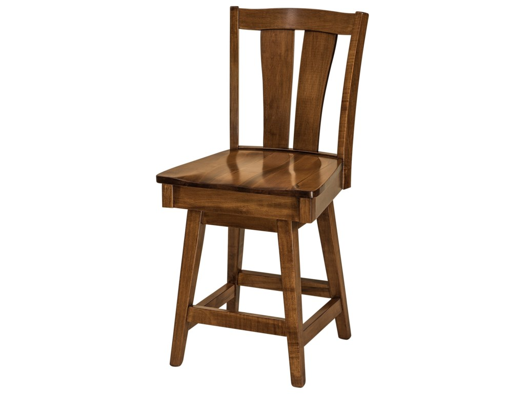 F&N Woodworking BrawleySwivel Bar Stool - Fabric Seat