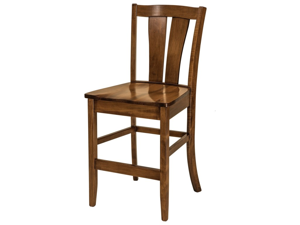 F&N Woodworking BrawleyStationary Counter Height Stool - Leather Se