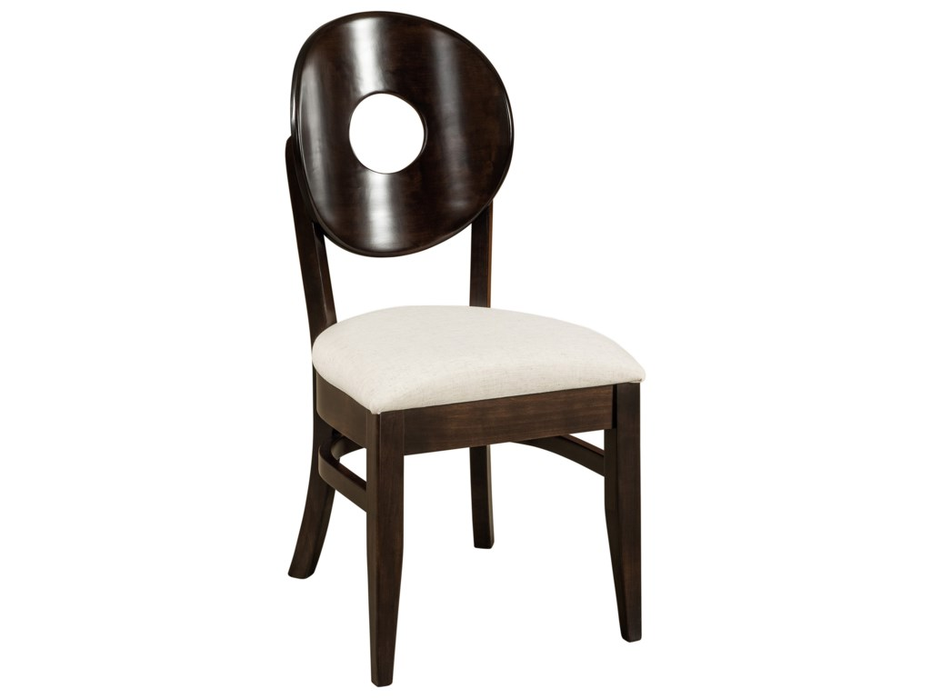 F&N Woodworking BridgeportSide Chair - Leather Seat