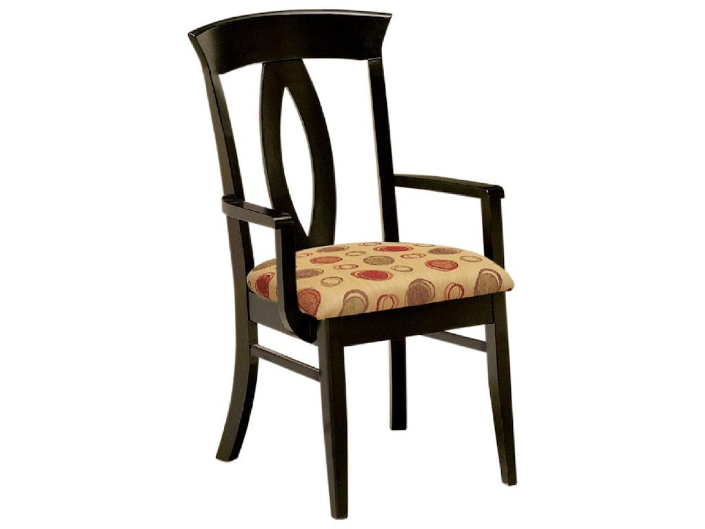F&N Woodworking BrookfieldArm Chair - Fabric Seat