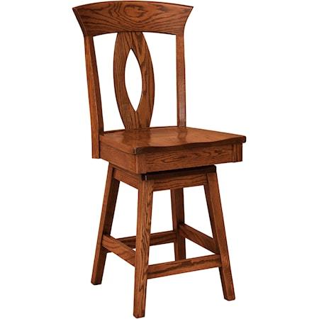 Swivel Bar Stool - Fabric Seat