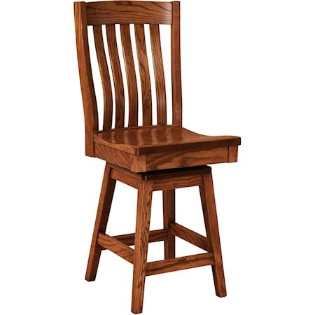 Swivel Bar Stool - Leather Seat