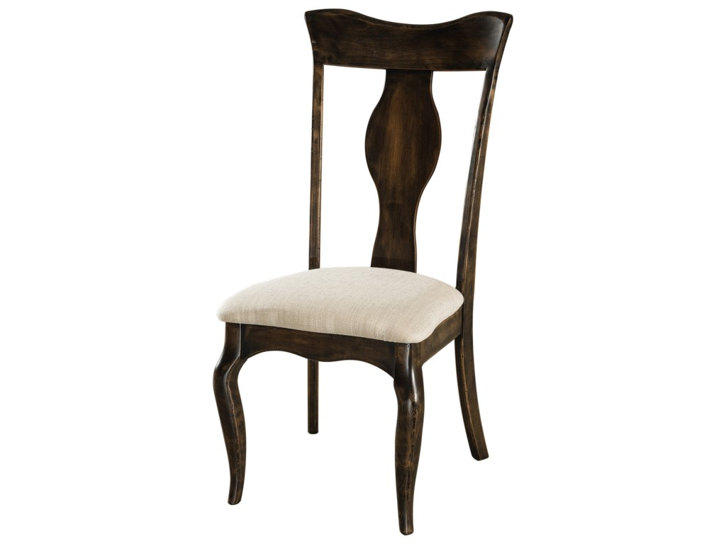 F&N Woodworking RichlandSide Chair - Fabric Seat