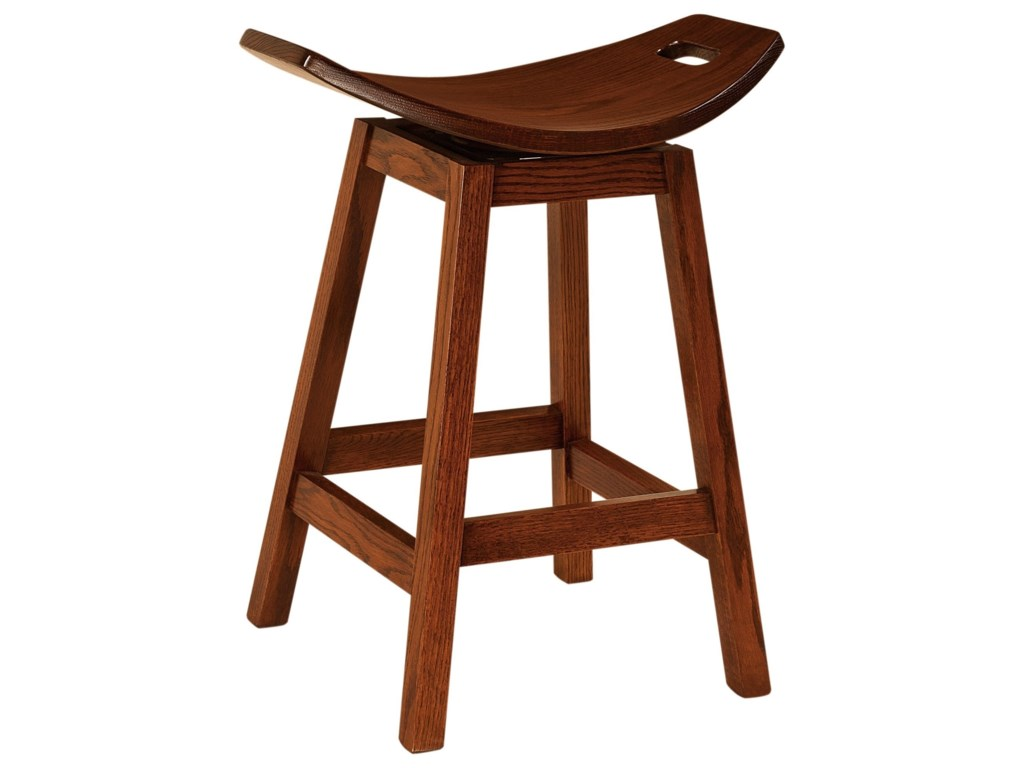 F&N Woodworking WilfordSwivel Bar Stool 30