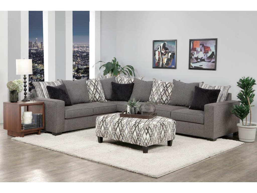EJ Lauren Atlantis2 Piece Tux Sofa