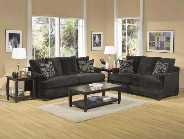 Picture of: Ej Lauren Barkley Barkley Black Upholstered Sofa With Accent Pillows Sam Levitz Furniture Sofas