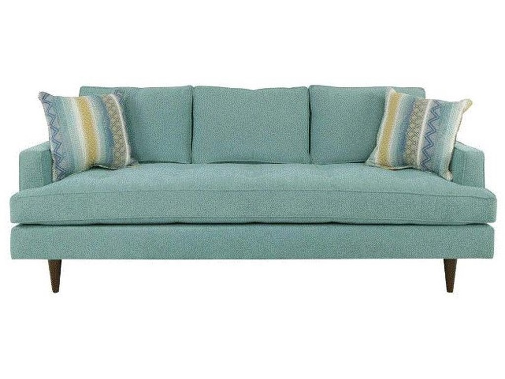 Cindy Mid-Century Style Sofa in Pool by EJ Lauren at Sam Levitz Furniture