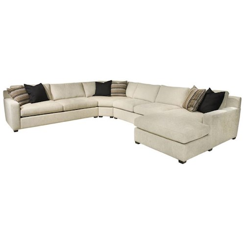 EJ Lauren Corinne  Contemporary Sectional Sofa with Right Side Chaise