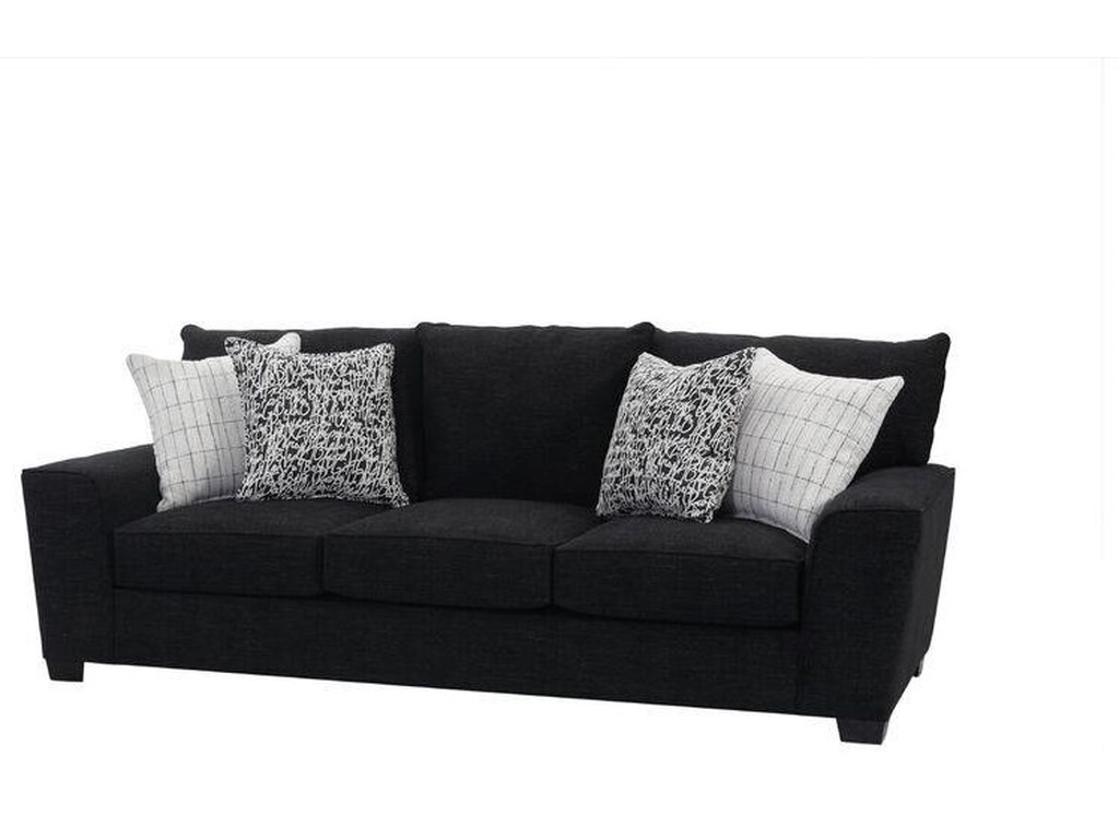 Joshua Upholstered Sofa With Accent Pillows By Ej Lauren At Sam Levitz Furniture