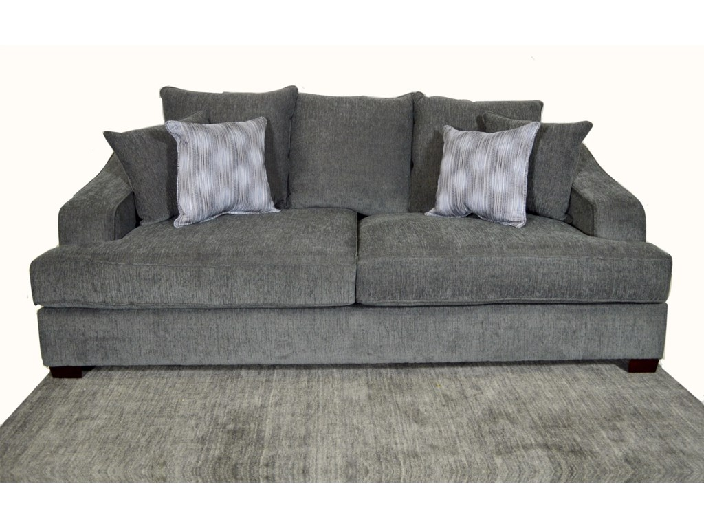 Lincoln Upholstered Sofa With Accent Pillows By Ej Lauren At Sam Levitz Furniture