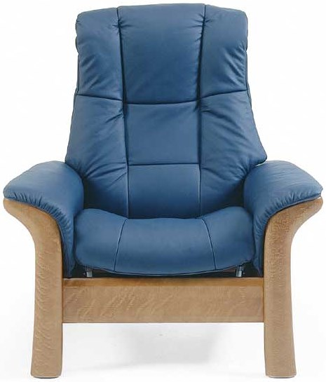 Stressless by Ekornes Stressless Windsor Highback Reclining Leather Chair