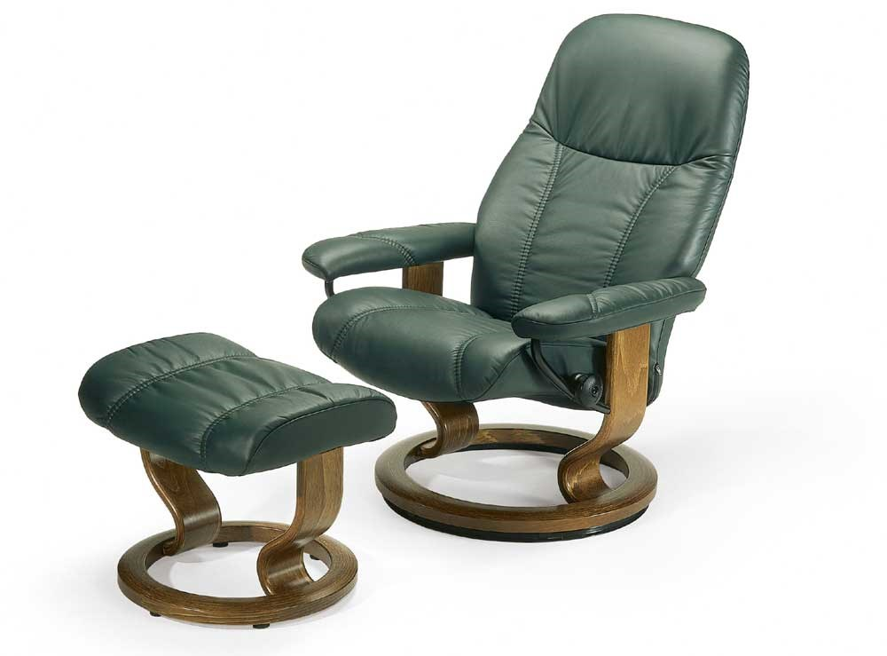Stressless By Ekornes Stressless Recliners Consul Small Reclining Chair And  Ottoman   Hudsonu0027s Furniture   Chair U0026 Ottoman