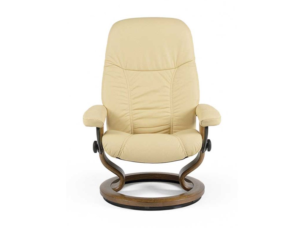 Stressless ConsulSmall Chair & Ottoman with Classic Base