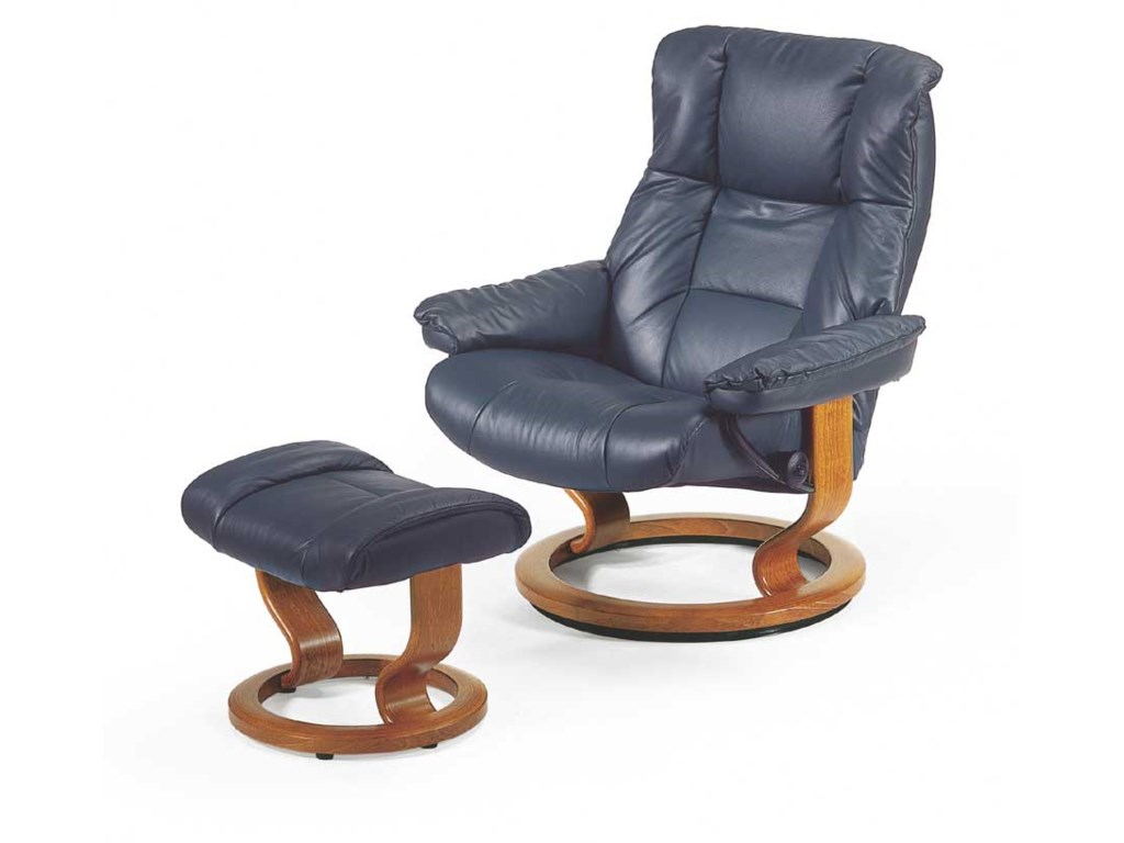 Stressless MayfairLarge Chair & Ottoman with Classic Base