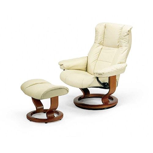 Stressless by Ekornes Stressless Recliners Mayfair Medium Reclining Chair and Ottoman