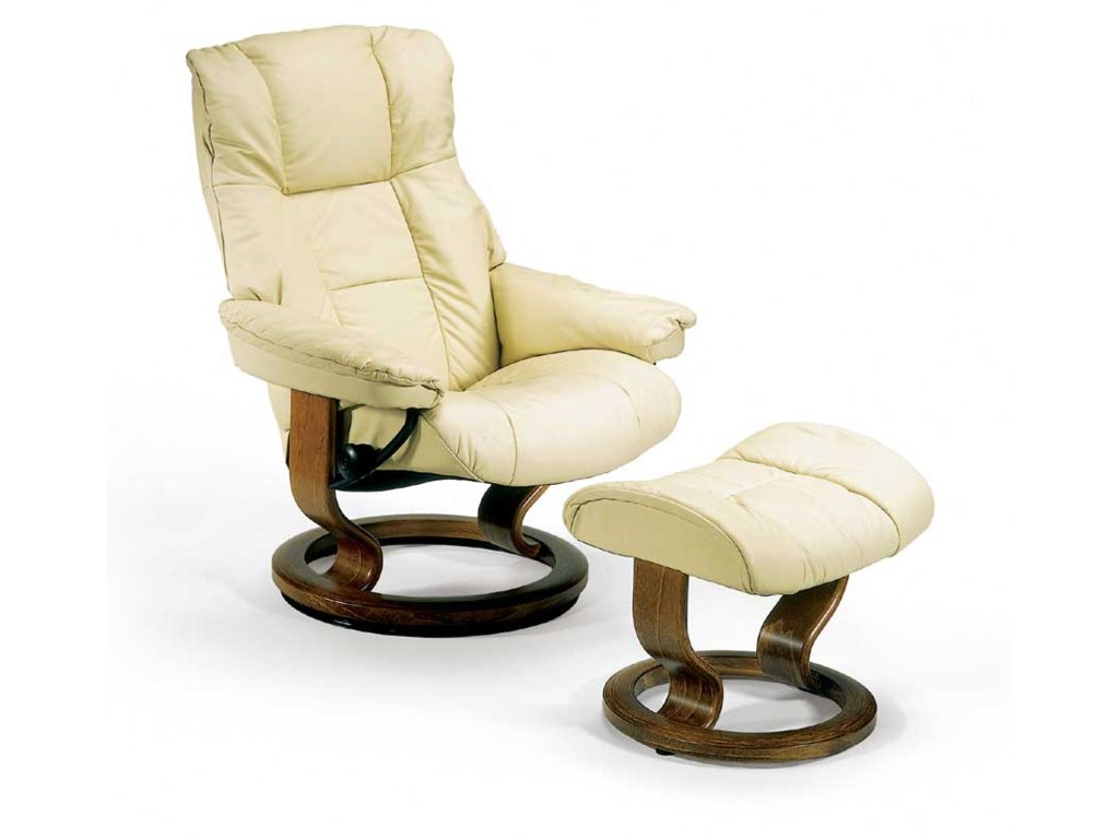Stressless MayfairSmall Chair & Ottoman with Classic Base