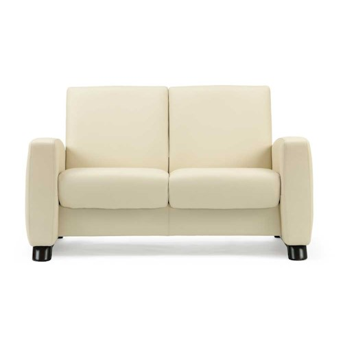 Stressless by Ekornes Stressless Arion Low Back Recling 2 Seat Leather Loveseat