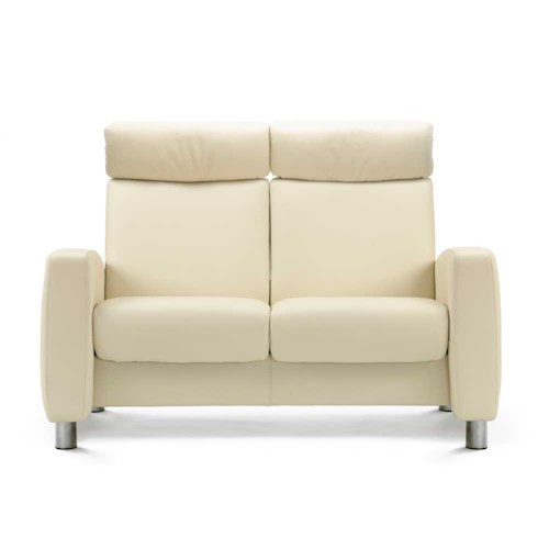 Stressless by Ekornes Stressless Arion High Back Reclining 2 Seat Leather Loveseat
