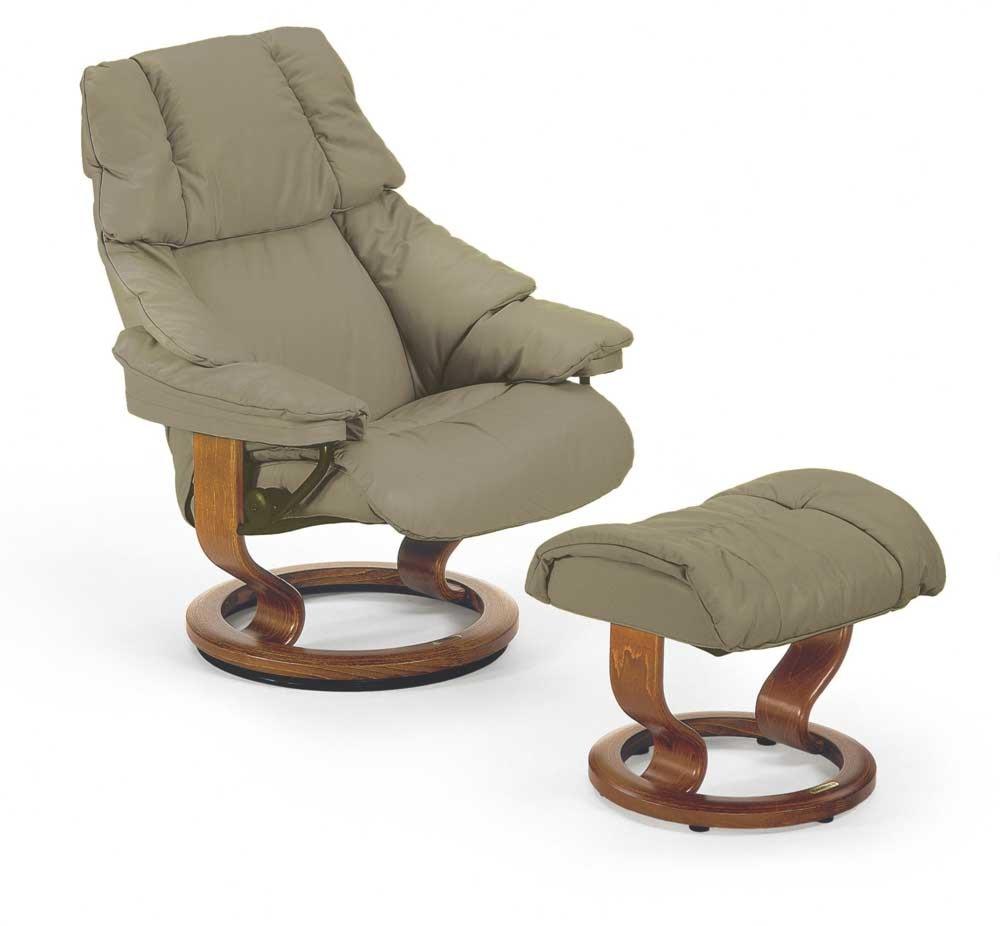 Stressless Reno 1169015 Medium Reclining Chair Ottoman With