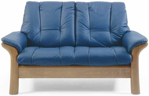 Stressless by Ekornes Stressless Windsor Lowback Reclining Leather 2-seat Sofa