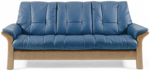 Stressless Stressless Windsor Lowback Reclining Leather 3-seat Sofa