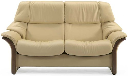 Stressless Eldorado High-Back 2-Seater Reclining Loveseat with Arms