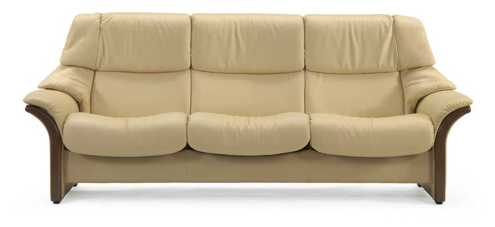 Stressless Eldoradohigh Back 3 Seater Reclining Sofa